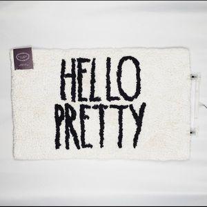 RAE DUNN Hello Pretty bath mat